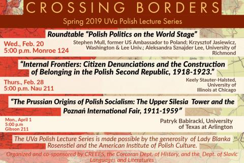 Crossing Borders Spring 2019 Polish Lectures